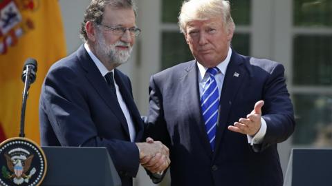 Mariano Rajoy and Donald Trump